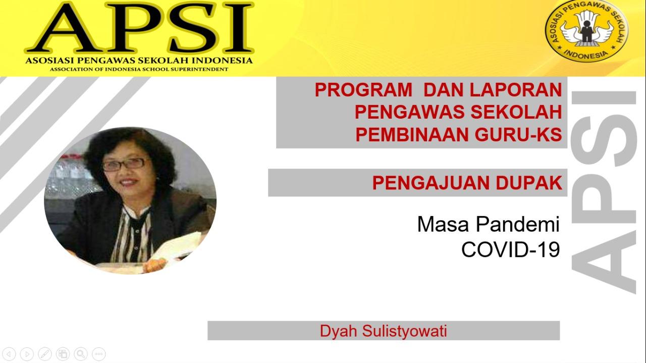 Program dan Pelaporan Pembinaan Guru -KS serta Penyusunan DUPAK